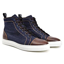 Gianmarco - Denim Hi top sneakers