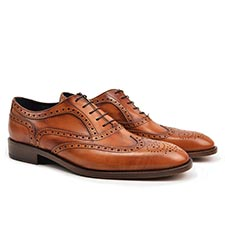 Fred - Tan Oxford Shoes