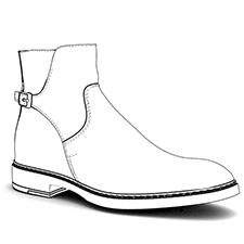 Technical Drawings Mens Buckle Shoes
